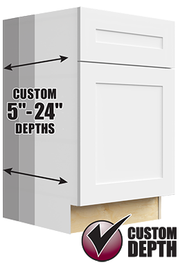 kitchen and bathroom custom cabinet depth option