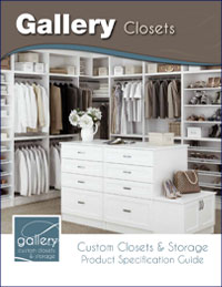 Gallery Closet Product Specification Guide