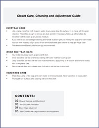 Gallery Closet Cleaning and Adjustment Guide